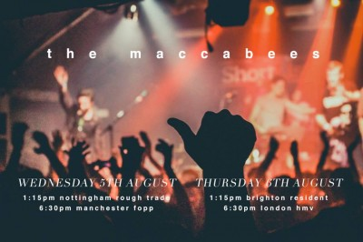 The Maccabees Poster for their in store sessions